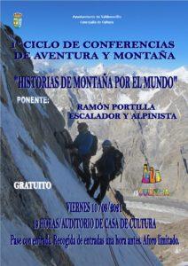 El escalador y alpinista Ramón Portilla acerca a Valdemorillo sus 'historias de montaña por el mundo' en la presentación del nuevo ciclo de conferencias con la aventura como protagonista