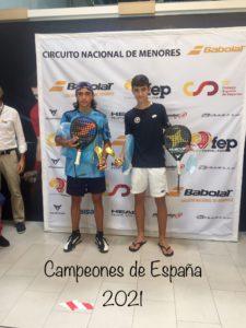 David Gala, otra gran promesa deportiva entre la cantera de Valdemorillo, cosecha su tercera victoria, ahora como cadete, en el Campeonato de España de Menores Trofeo Babolat