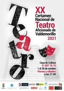 El Certamen de Teatro Aficionado de Valdemorillo, una de las citas nacionales más importantes para hacer visible y respaldar la labor de las compañías amateur, celebra este octubre sus 20 años de historia