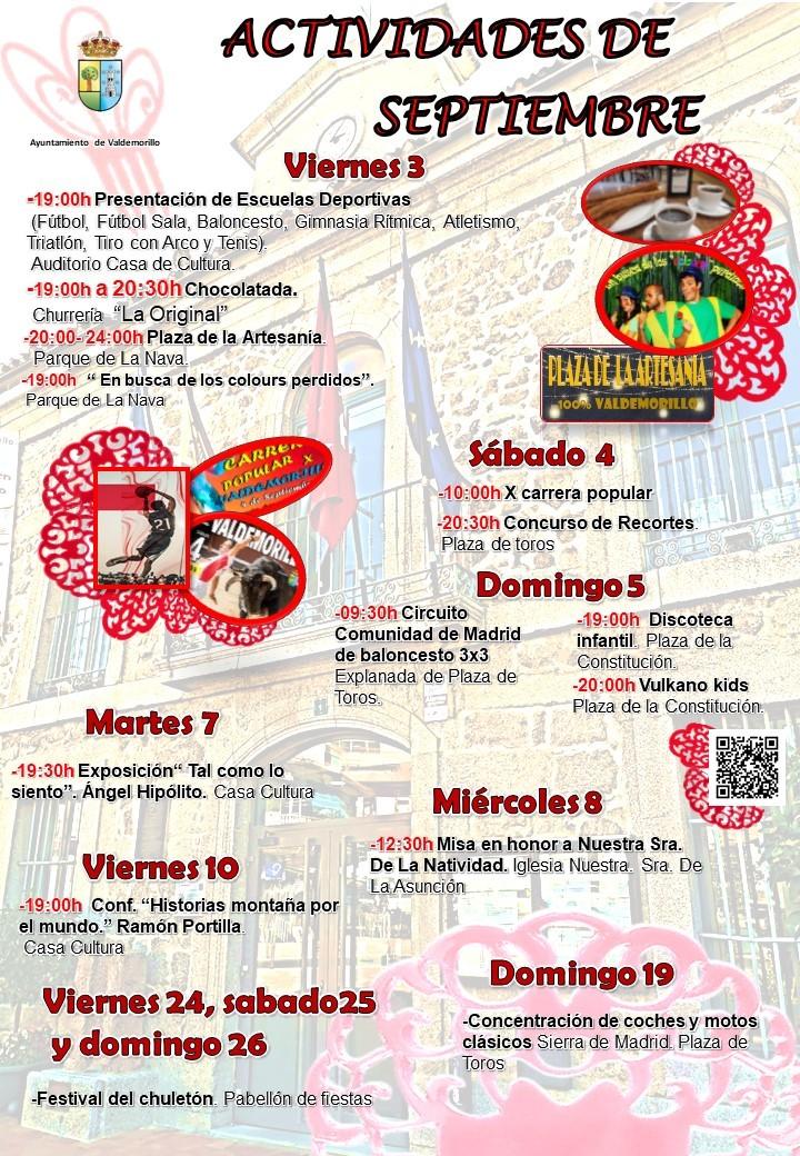 Actividades para todos en Valdemorillo este septiembre