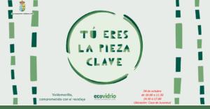"""El lunes 4 de octubre, escolares y vecinos de Valdemorillo también serán """"Pieza Clave""""  con su participación en la campaña de Ecovidrio  que muestra la importancia del reciclaje  """"para conservar y proteger nuestro patrimonio más vital, el medio ambiente"""""""